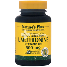 Nature's Plus L-METHIONINE 500mg - Συκώτι / Μαλλιά, 60vcaps