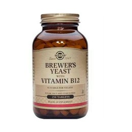 Solgar Brewer's Yeast with Vitamin B-12 , 250 Tablets