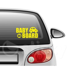 Baby on board 5 on car
