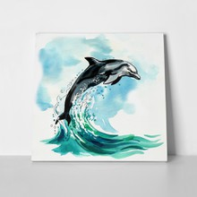 Watercolor jumping dolphin 750606901 a