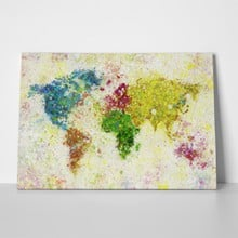 Paper painting world map 96933623 a