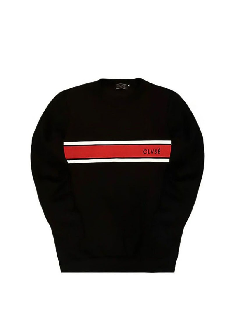 CLVSE SOCIETY BLACK RED LINE SWEATSHIRT