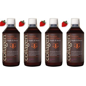 Collagen power pro active liquid collagen health   beauty 4x strawberry