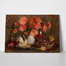 Still life autumn flowers  dahlias  38279527 a