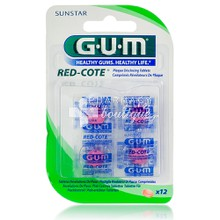 Gum RED COTE Plaque Disclosing Tablets - Διάγνωση Πλάκας, 12tabs