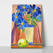 Apple near gerbera flowers 188998202 a