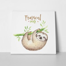 Baby sloth tropical party 662499286 a