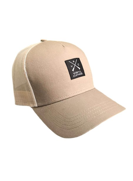 VINYL ART CLOTHING BEIGE-BEIGE CAP