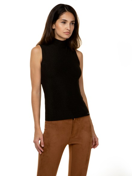 Lurex top with high neck