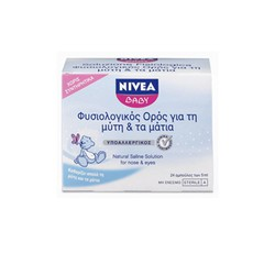Nivea Baby Saline for the nose and eyes 24x5ml