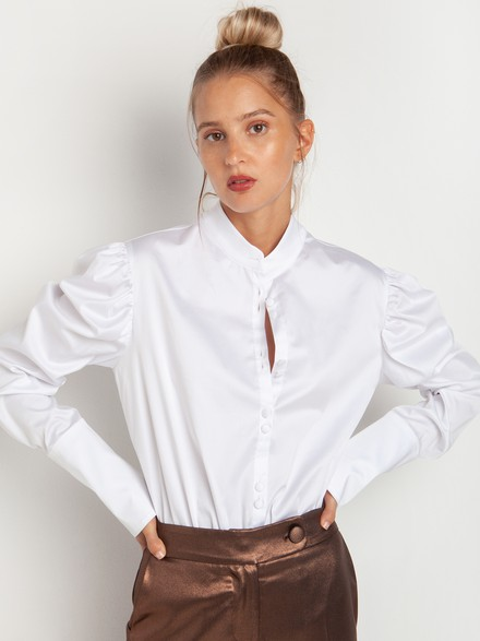 Bodysuit with ballon sleeves
