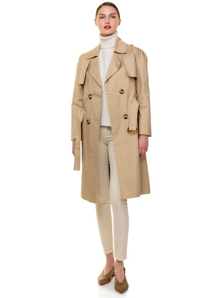 Trench coat with matching belt