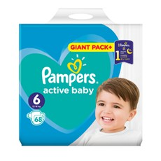 Pampers Active Baby Giant Pack No 6 13-18Kg 68Τμχ.
