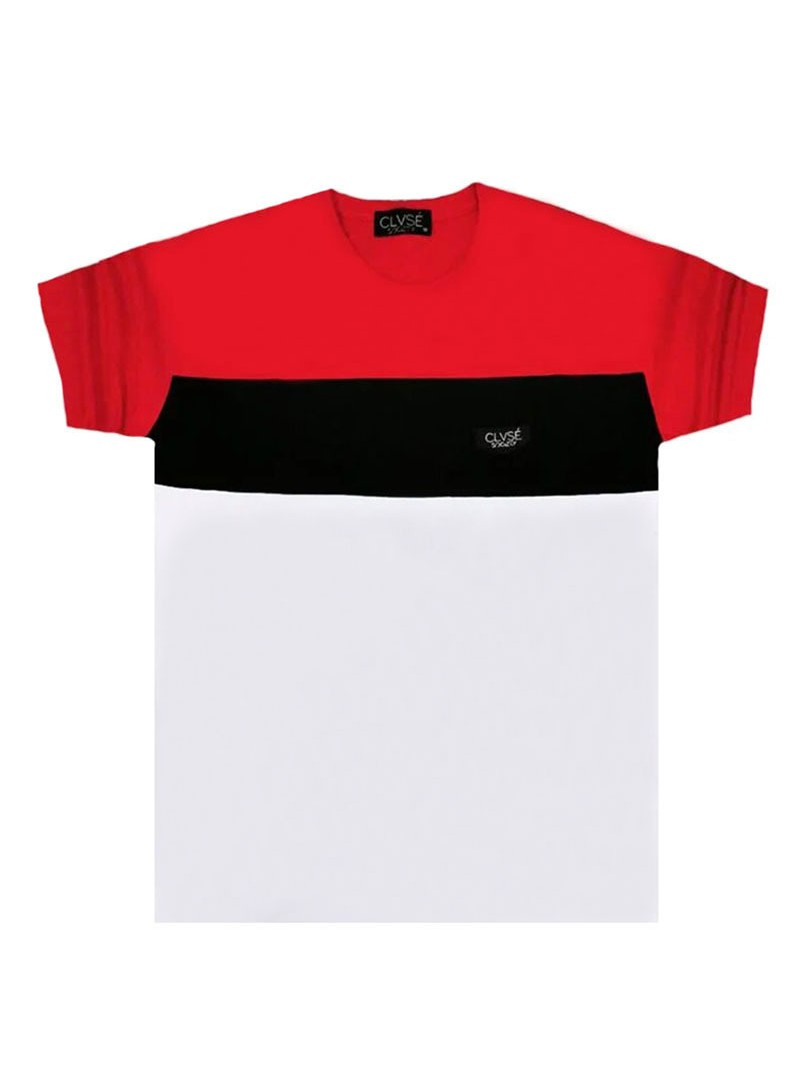 CLVSE SOCIETY WHITE T-SHIRT 508 COLOR BLOCKING