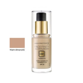 MAX FACTOR ALL DAY FLAWLESS 3ΙΝ1 FOUNDATION 45 WARM ALMOND