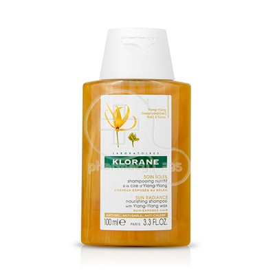 KLORANE - SOIN SOLEIL Shampooing Nutritif a la Cire d' Ylang-Ylang - 100ml