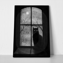 Black cat window castle 315436247 a