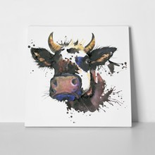 Cow watercolor graphics animal illustration splash 342302960 a