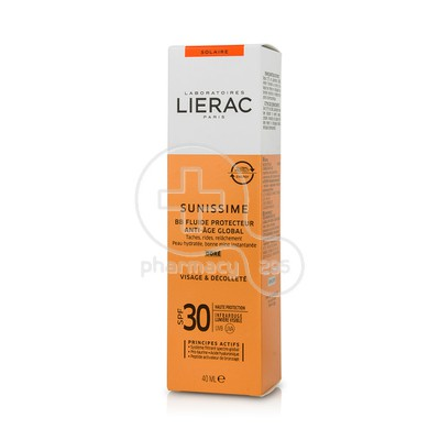 LIERAC - SUNISSIME BB Fluide Protecteur Anti-Age Global SPF30 Dore - 40ml
