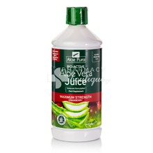 Optima Aloe Vera Juice Maximum Strength Cranberry - Πεπτικό, 1lt