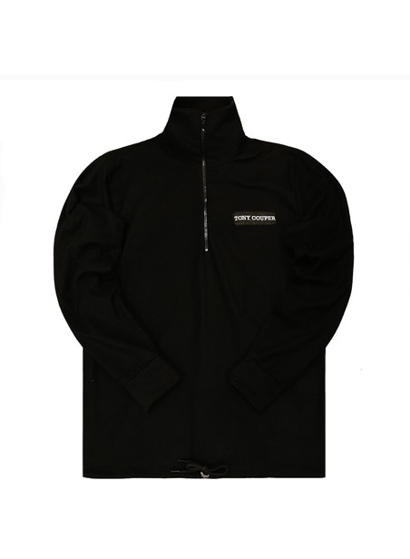 TONY COUPER BLACK 1/4 ZIP ZIVAGO