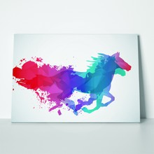 Running horse in colors 248307886 a