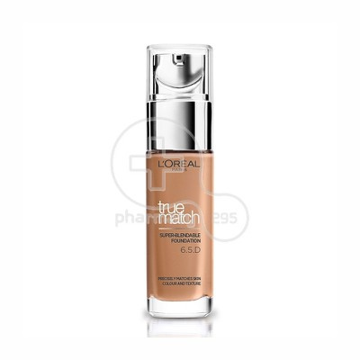 L'OREAL PARIS - TRUE MATCH Super Blendable Foundation No6.5.D/6.5.W (Caramel Dore) - 30ml