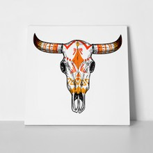 Buffalo illustration skull 361990139 a
