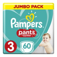 PAMPERS - JUMBO PACK Pants No3 (6-11kg) - 60 πάνες