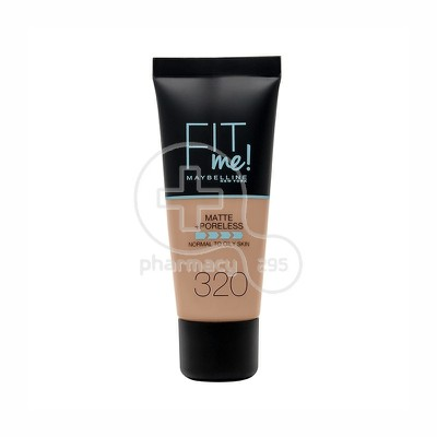 MAYBELLINE - FIT ME Matte & Poreless Foundation No320 (Natural Tan) - 30ml