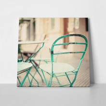 Retro green outdoor chair a