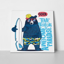 Cute surfer bear 533679334 a