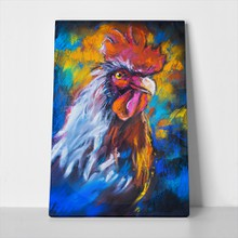 Pastel painting colorful rooster 506819242 a