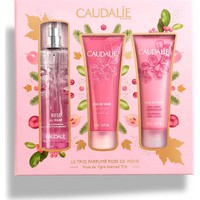 Caudalie Le Trio Parfume Rose de Vigne Fresh Fragrance 50ml & Rose de Vigne Body Lotion 50ml & Rose de Vigne ShowerGel 50ml