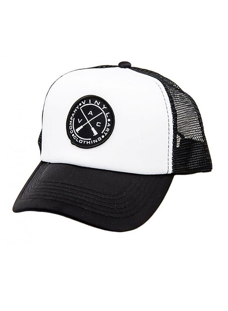 VINYL ART CLOTHING WHITE BLACK CAP
