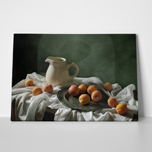Drapery and apricots still life 108117338 a