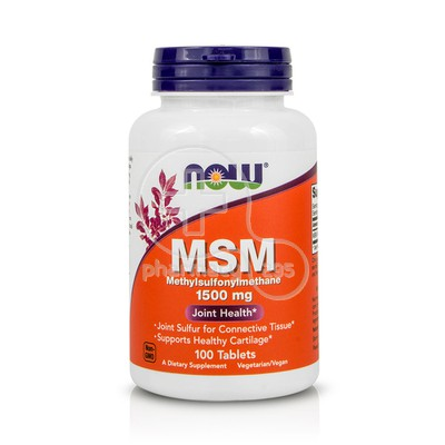 NOW - MSM 1500mg - 100tabs