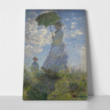 Woman with son monet a