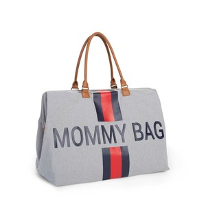 Τσάντα Αλλαγής Childhome Mommy Bag Big Grey Stripes Red/Blue