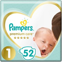 Pampers Premium Care No1 2-5kg 52 Πάνες