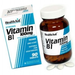 Health Aid VITAMIN B1 Thiamin One a Day, 90 ταμπλέτες