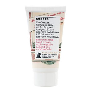 Korres moisurising hand cream with almond oil   calendula 75ml