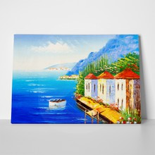 Greece oil painting a