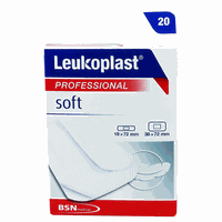 LEUKOPLAST STRIPS SOFT (2 ΜΕΓΕΘΗ) 20ΤΕΜ