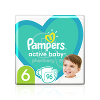 PAMPERS - MEGA PACK+ Active Baby Νο6 (13-18kg) - 96 πάνες