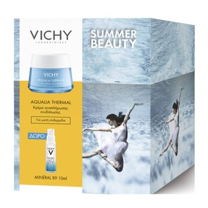VICHY Aqualia thermal gel cream 50ml promo pack & ΔΩΡΟ Mineral 89 10ml