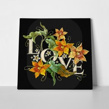 Narcissus embroidery love slogan 776393044 a