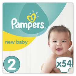Pampers New Baby No2 (3-5kg) 54τμχ