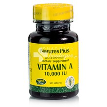 Natures Plus Vitamin A 10.000 IU (Water Dispersible) - Μάτια, 90 tabs