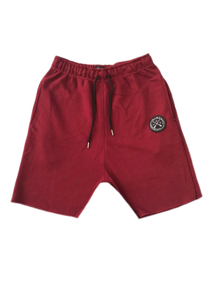 VINYL ART CLOTHING BORDEAUX JOGGER SHORTS
